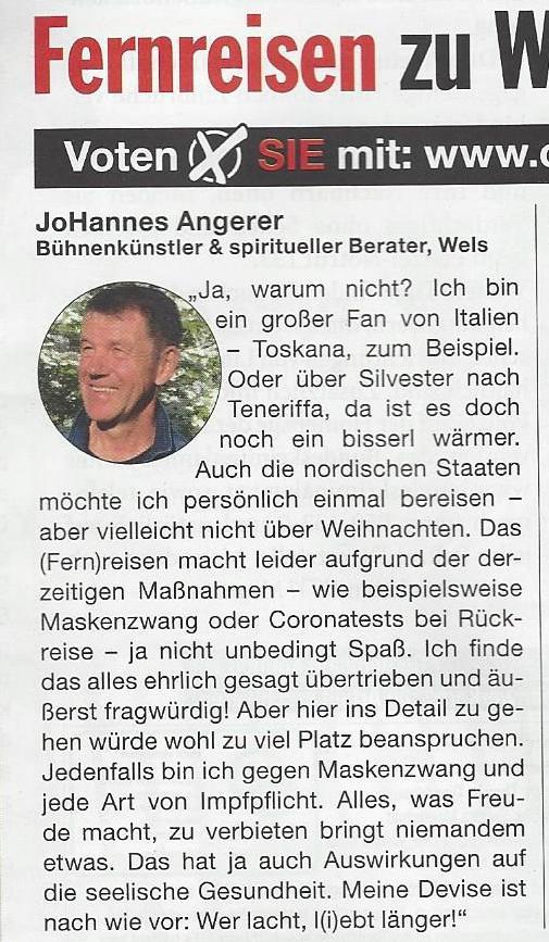 Ciy Magazin joHannes M Angerer