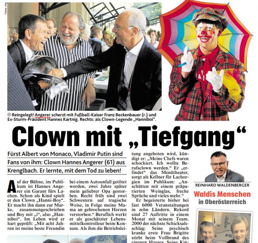 Presse - Clown mit Tiefgang